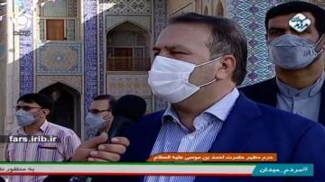 حضور استاندار فارس پای صندوق رای