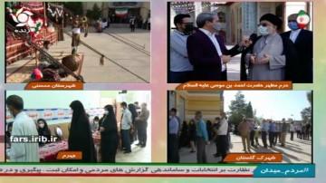 حضور حجت الاسلام موسوی پای صندوق رای