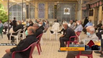 عزاداری در مسجد طبالیون شیراز