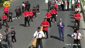 ورزشکاران شیرازی  در راهپیمایی روز قدس