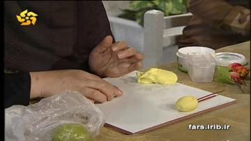 آموزش درست کردن مگنت سیب با خمیر