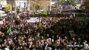 راهپیمایی با شکوه مردم انقلابی شیراز چهاردهم دی ماه 96