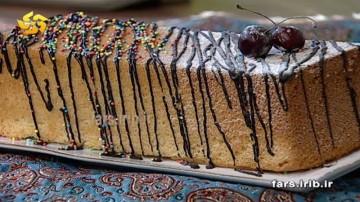 کیک شیر شکلاتی