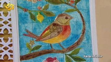 نما کاشی با نقش پرنده -قسمت اول