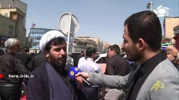 راهپیمایی مردم شیراز در حمایت از فریضه امر به معروف و نهی از منکر