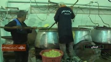 پخت ۱۵۰ تن غذای نذری در لارستان