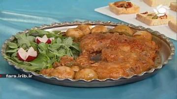 خوراک مرغ بلغاری