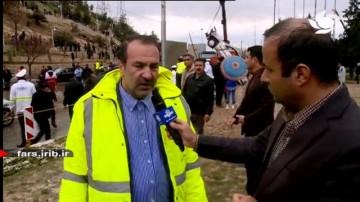 استاندار فارس در محل وقوع حادثه سیلاب