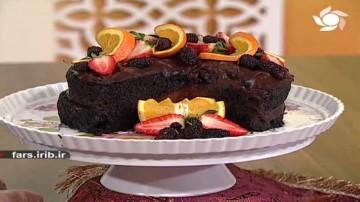 کیک وگان شکلاتی