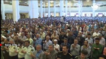 قنوت دلنشین نماز عید سعید فطر در حرم شاهچراغ
