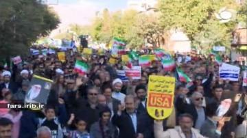 حضور پر شکوه مردم در راهپیمایی