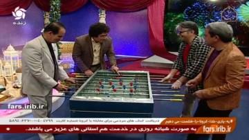 گزارشگری فوتبال دستی با لهجه شیرازی