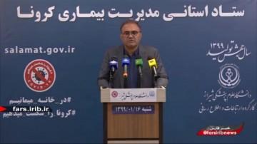 جدیدترین آمار کرونا در فارس تا 16 فروردین