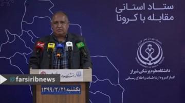 تازه ترین آمار کرونا در فارس، 21 اردیبهشت 99