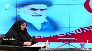 شعر خوانی شاعر شیرازی در وصف امام خمینی (ره)