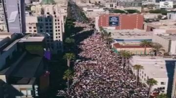 تصاویر شبکه ای بی سی نیوز آمریکا از انبوه معترضین