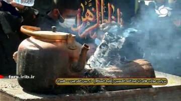 برپایی موکب های اربعین در بین الحرمین شیراز